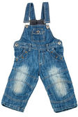 Children denim overalls — Stock Photo