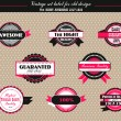 Vintage set of vector labels - Stok Vektör