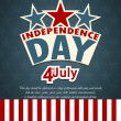 USA independence day banner with US flag. - Stock Vector