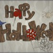 Happy Halloween card — Image vectorielle