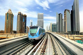 Dibai. Metro and skyscrapers — Stock Photo