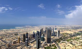 Dubai. World Trade center from Burj Khalifa — ストック写真