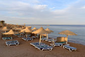 Evening beach in Sharm el Sheikh — Foto Stock