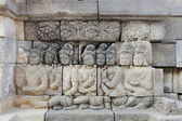 Detail of carved relief at Borobudur. Java, Indonesia — Stock Photo