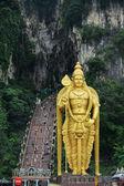 Statue of hindu god Murugan at Batu caves, Kuala-Lumpur — Stock Photo