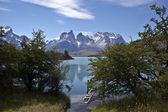 Torres chile de del paine parque nacional, patagônia — Foto Stock
