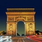 Arc de Triomphe, Paris France — Stock Photo