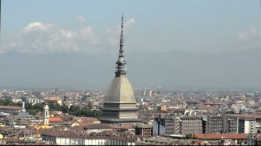 The Mole Antonelliana, Turin Landmark — Stock Video