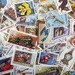 Vintage post stamps — Stock Photo