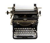 Vintage typewriter isolated on white background — Stock Photo