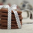 Stock Photo: Delicious chocolate cookies