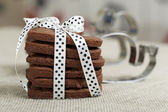 Delicious chocolate cookies — Stockfoto