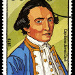 TOGOLESE REPUBLIC - CIRCA 1979: a stamp shows a portrait of Captain James Cook — Stock Photo