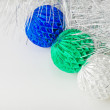 Three Christmas decorations — Stock Photo