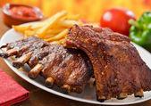 Carne de cerdo costillitas — Foto de Stock