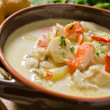 Seafood Chowder — Stock Photo