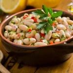 White Bean Cannellini Salad — Stock Photo