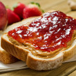 Peanut Butter and Jelly Sandwich — Stock Photo #23948765