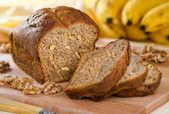 Bananan Nut Loaf — Stock Photo