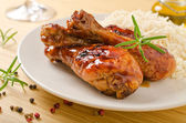 Barbecued Chicken — Stock Photo