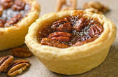 Pecan Butter Tarts — Stock Photo