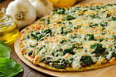 Spinach Pizza — Stock Photo