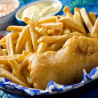 Stock Photo: One Piece Fish and Chips
