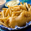 One Piece Fish and Chips — Stock Photo