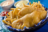 Two Piece Fish and Chips — Stock Photo