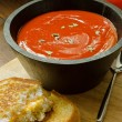 Tomato Soup with Grilled Cheese Sandwich — Stock Photo #30829269