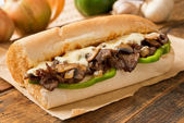 Steak and Cheese Sub — Stock Photo
