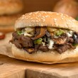 Steak and Cheese Mushroom Melt — Stock Photo