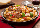 Pasta with Sausage — Stock Photo