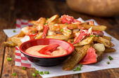Lobster Poutine — Stock Photo