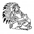 Indian Chief — Stock Photo