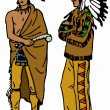 Native American Indians — Stock Photo