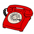 1960's Telephone — Stock Photo