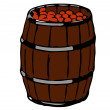 Barrel Of Apples — Stock Photo
