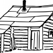 Hand Drawing Of A Shack — Stock Photo
