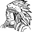 Hand Drawn Indian Chief — Stock Photo