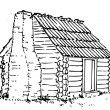 Hand Drawn Hut — Stock Photo