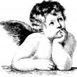 Hand Drawn Cherub — Foto Stock