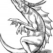 Hand Drawn Dragon — Stock Photo