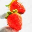 Watercolor Strawberries — Stock Photo