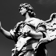 White Marble Angel Looks Out — Stock Photo