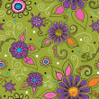 Seamless texture with flowers. - Stock Photo