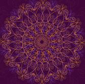 Ornamental round lace, circle ornament. — Stock Vector