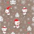 Christmas seamless pattern. — Stock Vector
