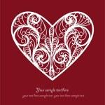 Ornamental Heart postcard — Stock Vector