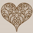 Ornamental heart vector — Stock Vector #24160881
